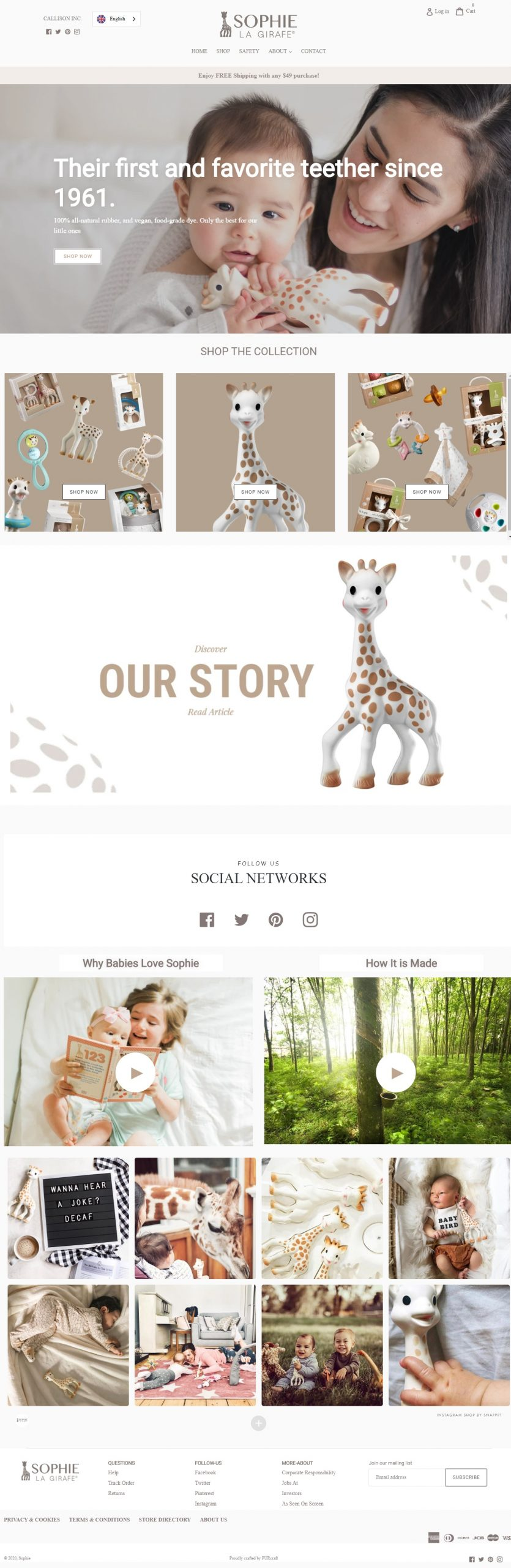 Sophie Shopify Website