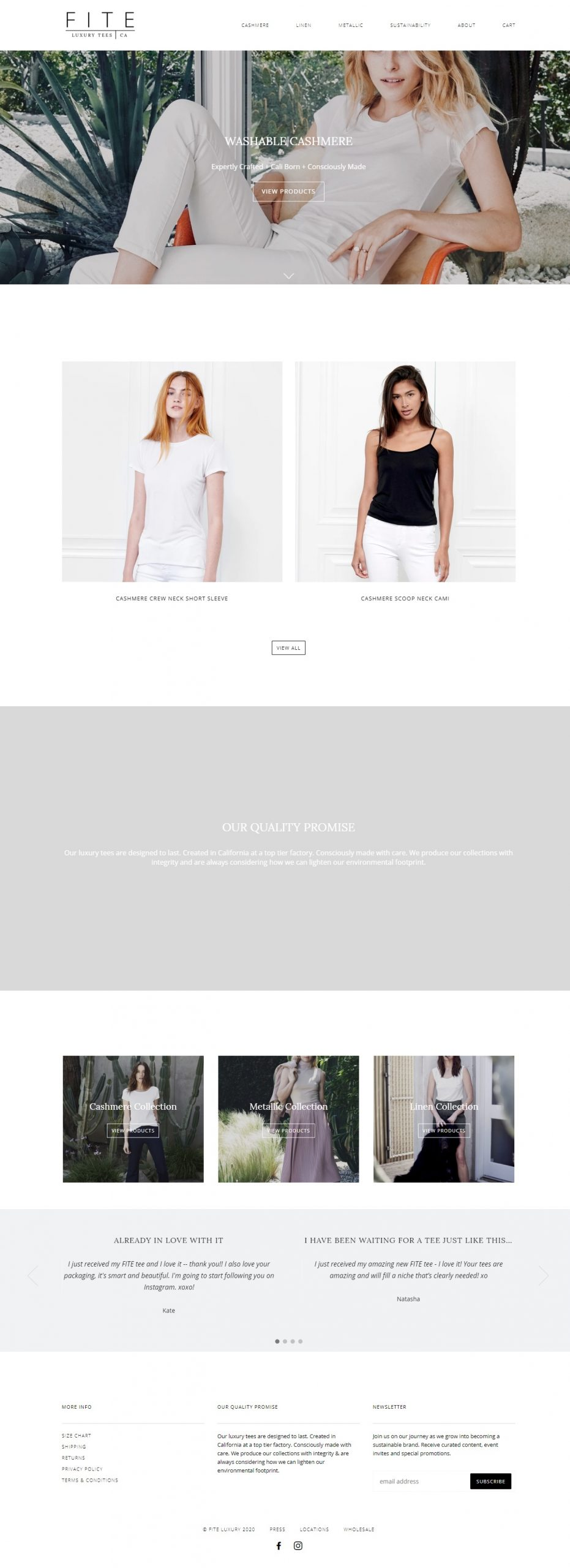 Fite Luxury Shopify Website