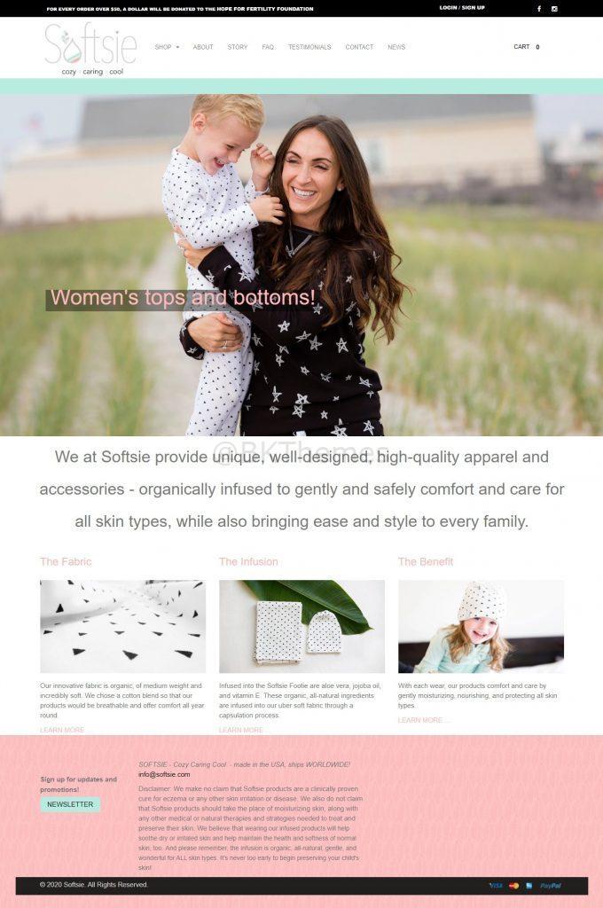 softsie website screenshot 1